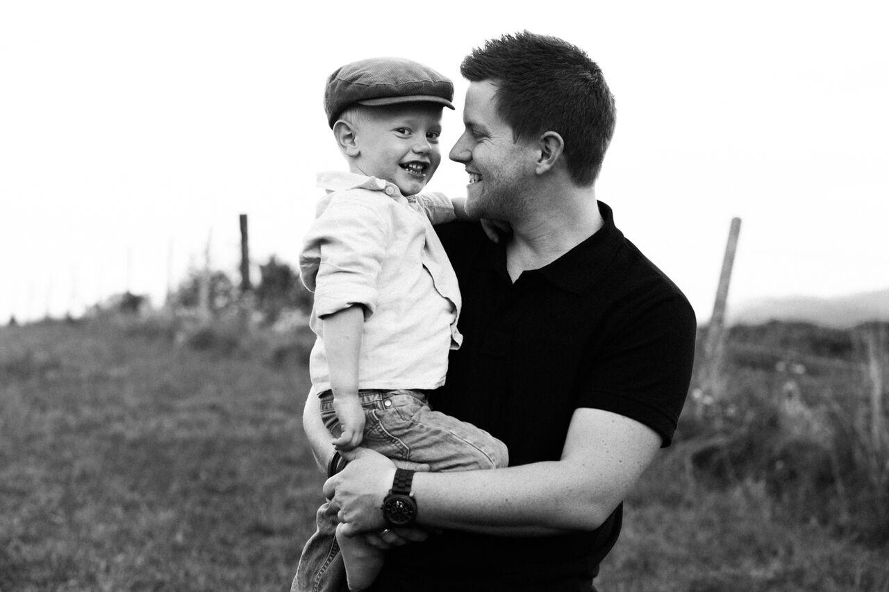 Mathias und sein Sohn Maximilian
